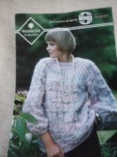 VINTAGE KNITTING PATTERN SIRDAR C8120 LADIESCABLE JUMPER ROMANCE 28 - 38""
